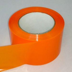 Absperrband einfarbig orange