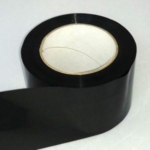 Absperrband einfarbig schwarz schwarzes