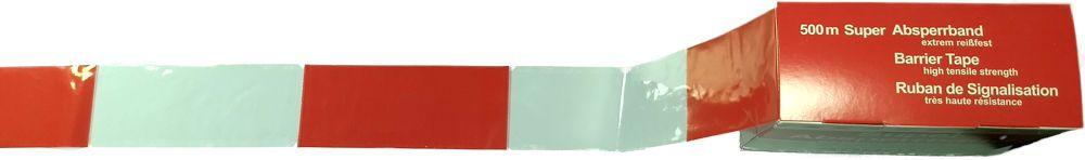 absperrband rot-weiß 80mm